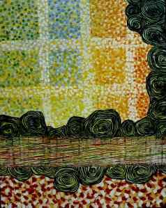 "16"" X 24"" Encaustic on Birch Panel.  Anna Wagner-Ott"