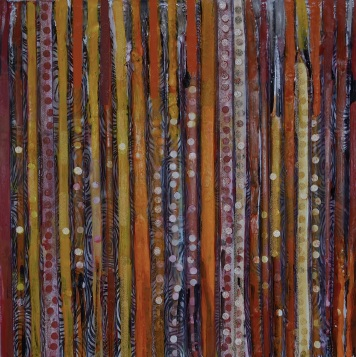"""Encaustic and Collaged Papers, 12"""" X 12"""""""