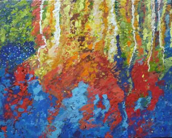 "Encaustic on panel, 20 X 24"", Anna Wagner-Ott"